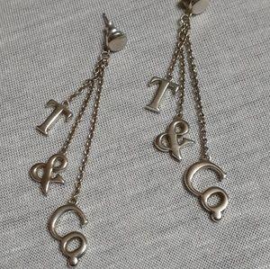 Tiffany logo chandelier earrings - USED